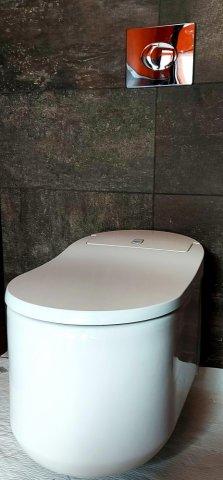 Création de toilette suspendu japonais dans une salle de bain à Monnières JP MOREAU